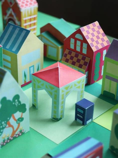 Paper Houses Craft - 25 paper house projects for to do