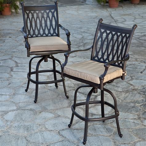 cast aluminum bar stools belham living palazetto cast aluminum swivel bar stool