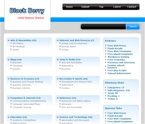 business directory template free php link directory template archive list of templates for version3 2