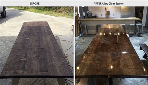 Wood Bar Top Finishes by Bar Top Epoxy Table Top Epoxy Countetop Epoxy Clear