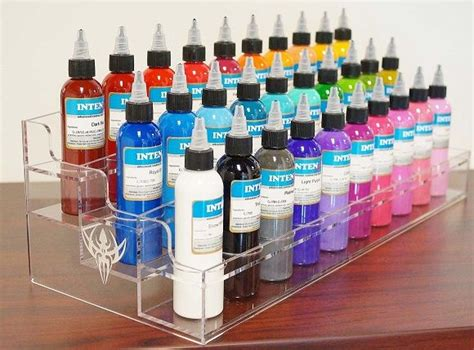 tattoo ink display 2 oz ink bottle holder this acrylic stand holds 30 2 oz