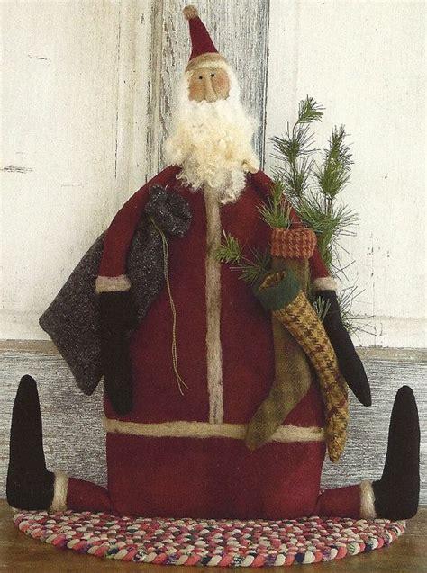 pattern for primitive christmas stocking primitive folk art wool doll pattern stocking by