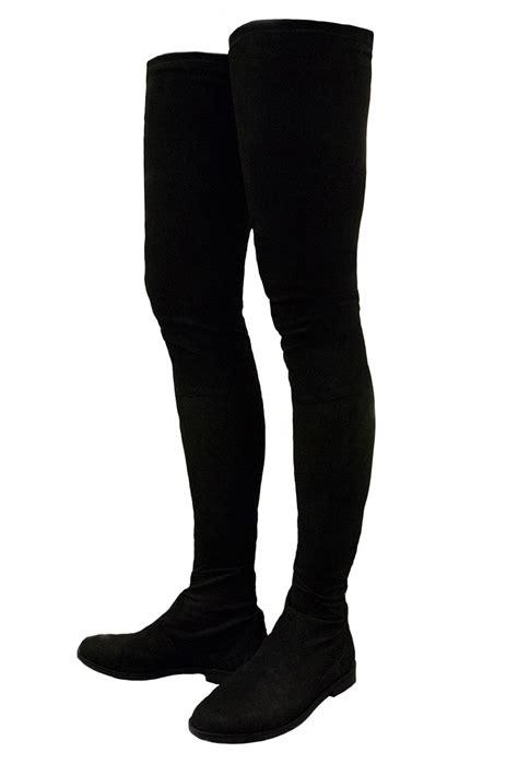 topshop vesper thigh high stretch suede boots by kurt