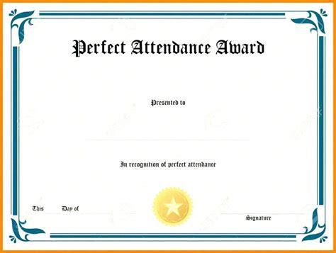 Template Attendance Award Certificate Template Attendance Award Template