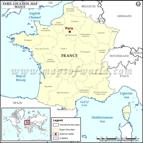 france latitude where is paris location of paris in france map