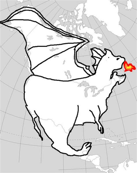 north american dragon i just realized that the americas sideways look like a