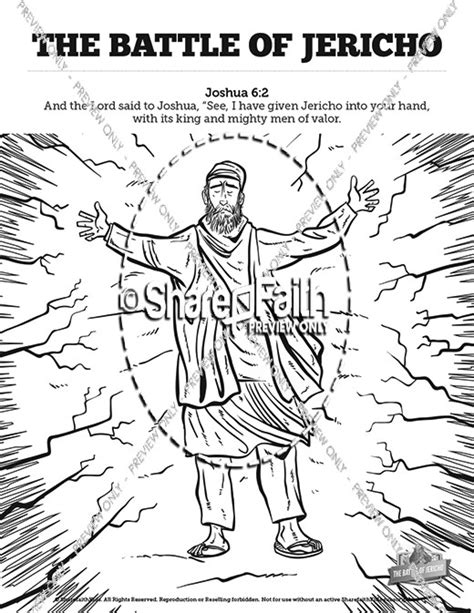 joshua and the battle of jericho free colouring pages