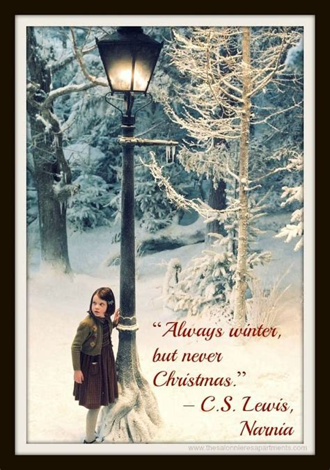 Cs Lewis Witch Wardrobe Quotes by Advent Calendar Quote Quot Always Winter But