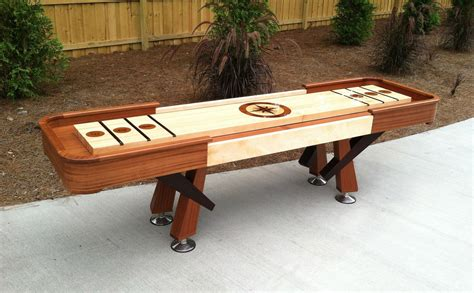 Custom Shuffleboard Table by Crafted Shuffleboard Table By Jason Hale Woodworking