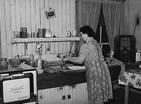 Kitchen In A Day by Farm Wife At Kitchen Sink In Grandmother S Day Old
