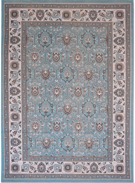 Blue Area Rugs 5x7 Aqua Blue Traditional 5x7 Area Rug Bordered Carpet Approx 5 2 Quot X 7 2 Quot Ebay