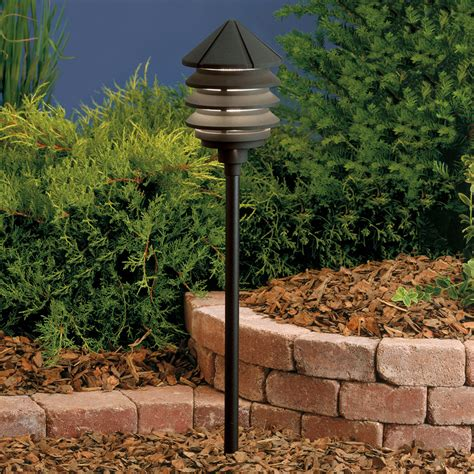 12v Landscape Lighting Kichler 15005bkt Six Groove 12v Three Tier Landscape Path