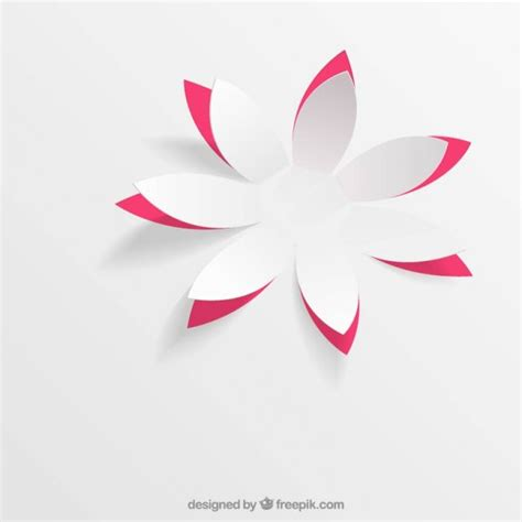 Origami Pop Up Flower - paper flower in pop up style vector free