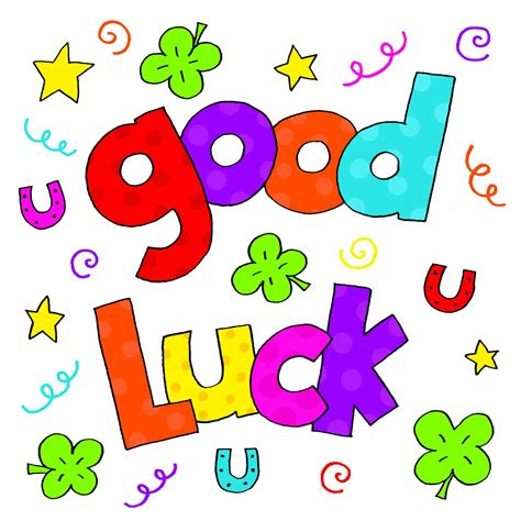 gud luck good luck card