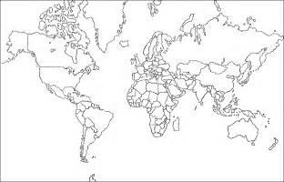 Mapa Planisferio Para Colorear sketch template