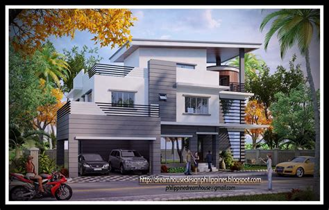 House Plan For Narrow Lot by Philippine Dream House Design Three Storey House