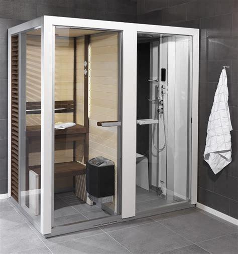 sauna doccia sauna e bagnoturco combinata sistema wellness combinato
