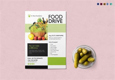 Free Food Drive Flyer Template Microsoft