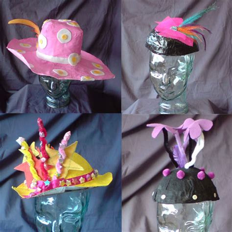 How To Make Paper Mache Hats - papier mache hats almost finished 183 adelle