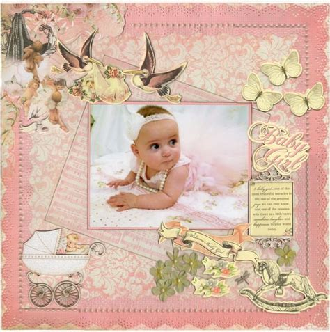 scrapbook layout baby girl layout baby girl new kaisercraft crafting scrapbooks