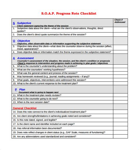 sle progress note template 9 free documents download