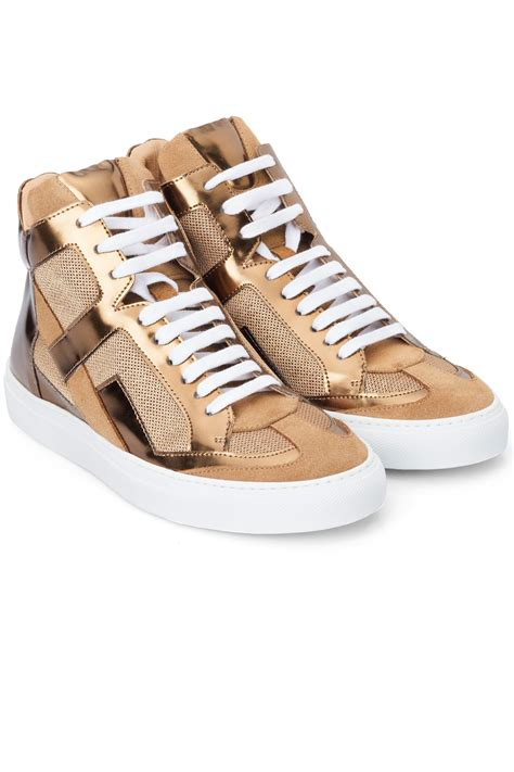 maison margiela sneakers mm6 maison martin margiela gold hi top sneakers gold 365ist