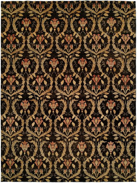 black accent rugs black field with gold and rose accents area rug