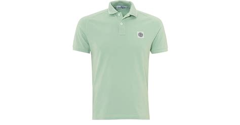 Polo Shirt Logo By Crion lyst island mint compass logo polo green chest logo polo shirt in green for