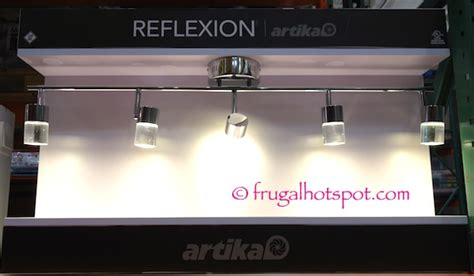 costco bathroom lighting costco artika reflexion 5 light led track fixture 89 99