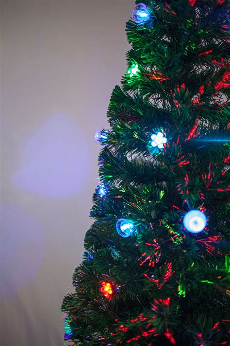 6 5 ft pre lit multi color led fiber optic christmas