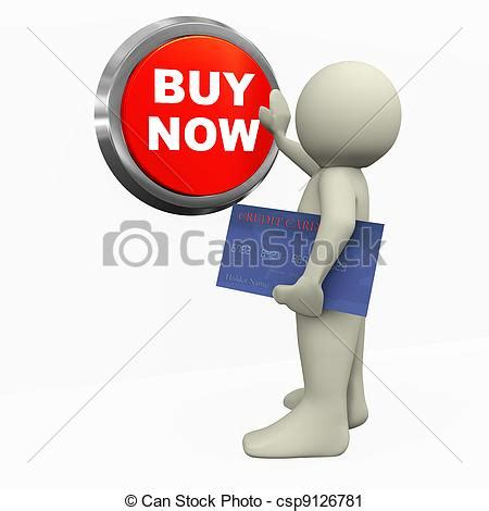 buy clipart 3d pushing buy now button 3d render of with
