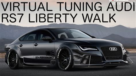 Audi Rs7 Tuning by Audi Rs7 Liberty Walk Virtual Tuning On Gimp Photoshop