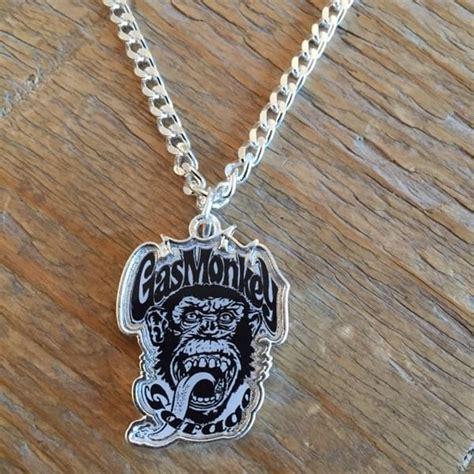 gas monkey garage necklace  monkey head jewellery