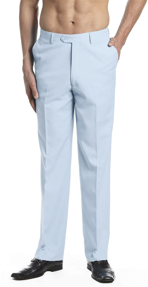 light blue slacks mens concitor s dress trousers flat front slack