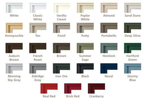 Wood Furniture Colors Chart by Pella Archiect Aluminum Clad Wood Windows