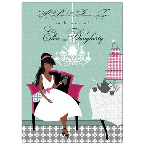 tea american bridal shower invitations paperstyle
