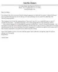 sle appeal letters letter sles livecareer