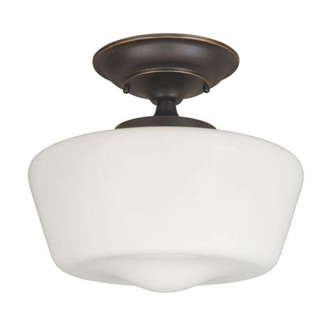 rubbed bronze semi flush ceiling light imports luray 12 in 1 light rubbed bronze semi