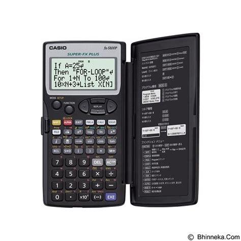 Casio Fx 82es Kalkulator Scientific jual casio kalkulator fx 5800p murah bhinneka