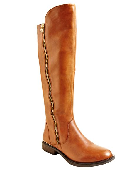steve madden shawny leather boots in brown lyst