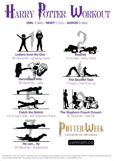 Music Themed Bedroom Ideas 7 magical moves harry potter swishandflex workout sheet