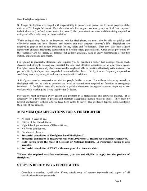 Sle Cover Letter Nigeria resuming letter sle 28 images firefighter cover letter