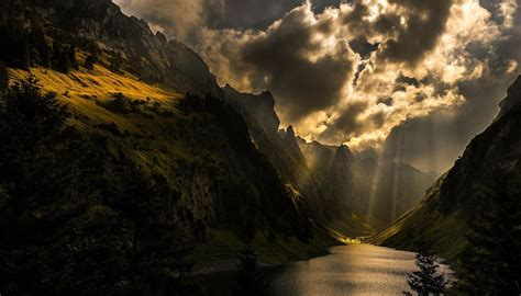 nature photography landscape sun rays mountains