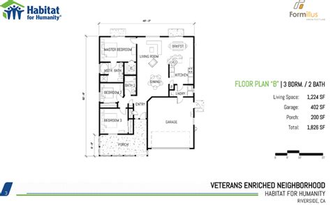 habitat for humanity 3 bedroom floor plans on habitat