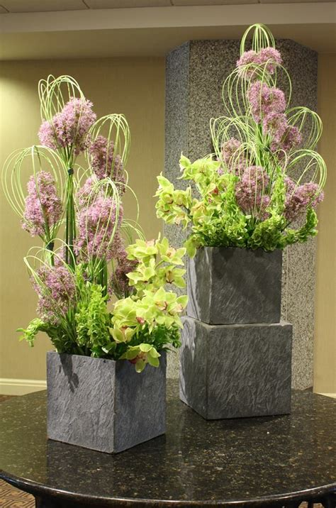 Homemade Flower Pots Ideas lobby designs that get attention from crossroads florist