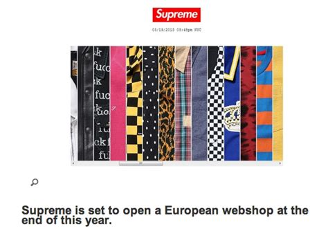 supreme clothing europe supreme europe store 28 images supreme store to open