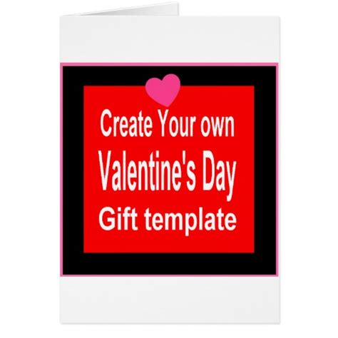 Make Your Own Gift Cards - create your own valentine gift card zazzle