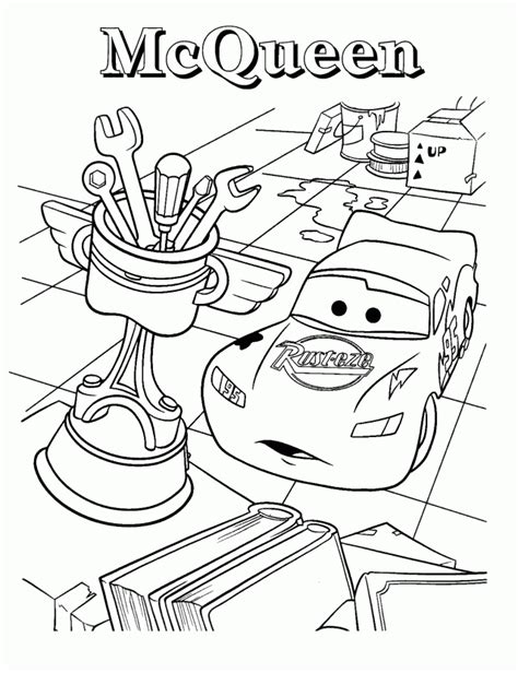 cars movie tow mater cars movie coloring page lightning