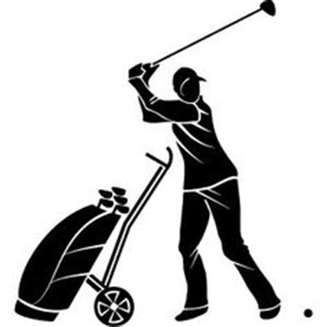 golf swing vector golf silhouette clip art pack template silhouette clip