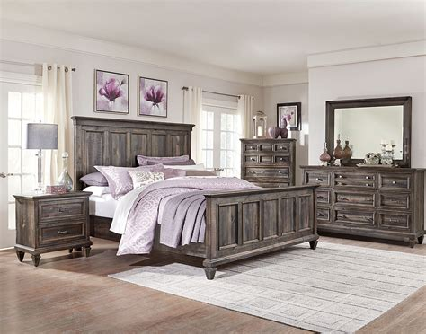 calistoga  piece king bedroom package weathered charcoal  brick